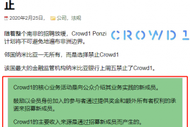 【曝光】国外人人喊打的Crowd1,正在圈最后一波钱!