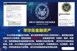 """【曝光】""""SAS国际公链""""获得SEC申请注册备案?都是骗局,团队全部都造假!"""